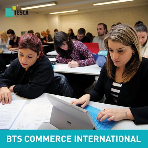 BTS Commerce International IESCA nouveau référentiel