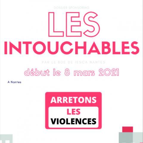 """Le projet """"Les Intouchables"""" dénonçant le harcèlement des femmes issu de nos étudiants en BTS Communication"""